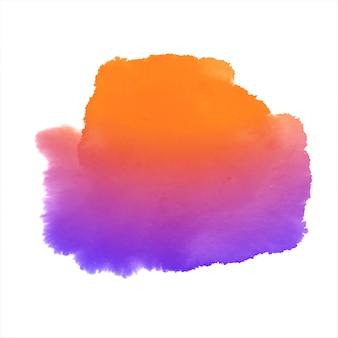 Diseño de salpicaduras dibujado a mano acuarela colorida abstracta