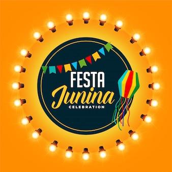 Diseño de saludo para la celebración del festival festia junina