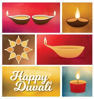 Diseño de saludo diwali