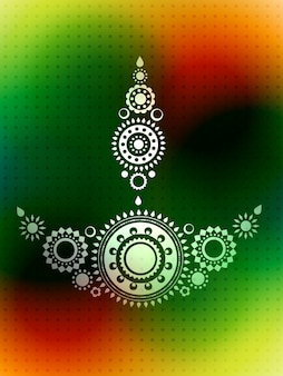 Diseño del saludo del diwali