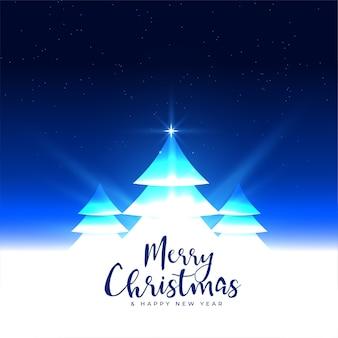 Diseño de saludo festival de fondo de árbol de navidad brillante