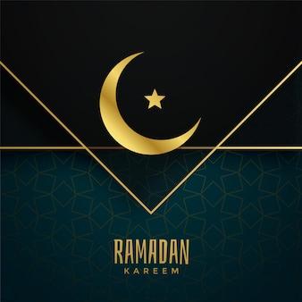 Diseño de saludo del festival islámico ramadan kareem