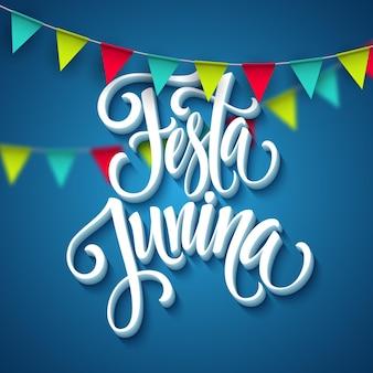 Diseño de saludo de fiesta festa junina.
