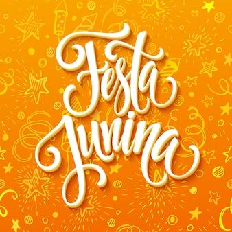 Diseño de saludo de fiesta festa junina