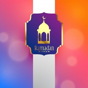 Diseño de saludo de lujo hermosa ramadan kareem