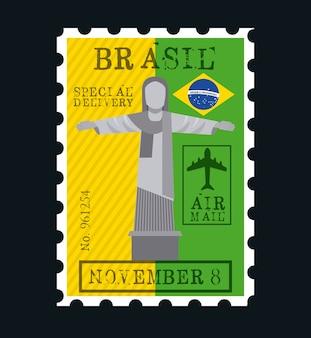 Diseño de sello de correo