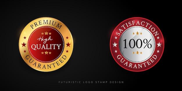Diseño de sello de logotipo de calidad premium