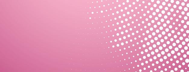 Diseño de semitono abstracto banner rosa moderno