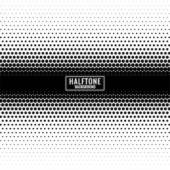 Diseño de semitono blanco y negro abstracto