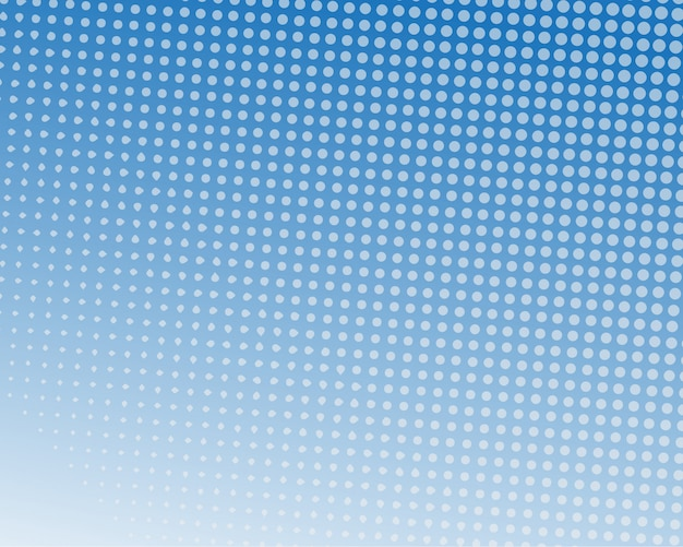 Diseño de semitono de color azul