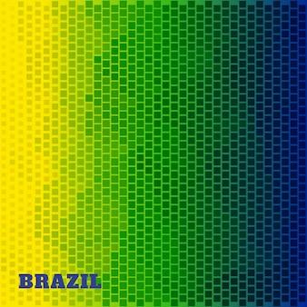 Diseño de semitono en colores de brasil