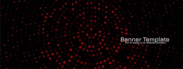 Diseño de semitono colorido banner decorativo oscuro