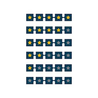 Diseño de símbolo de calificación de 5 estrellas