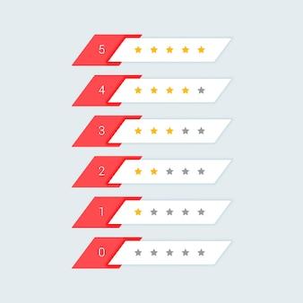 Diseño de símbolo de calificación de estrellas de comentarios