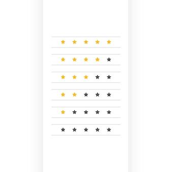 Diseño de símbolo de calificación mínima de estrellas