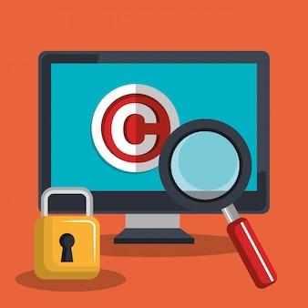 Diseño del símbolo de copyright