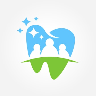 Diseño de símbolo de negocio dental