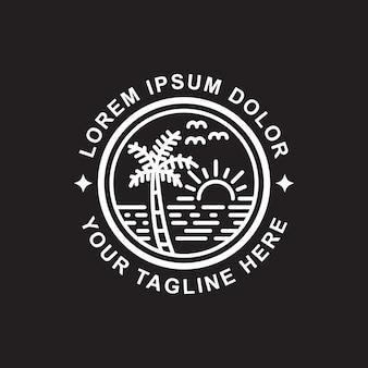 Diseño simple del esquema de la isla