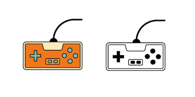Diseño simple del icono del juego de consola de juego
