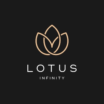 Diseño simple del logotipo de lotus