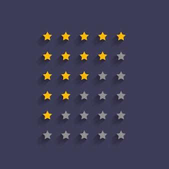Diseño simple de símbolo de calificación de estrellas