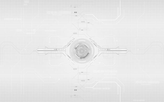 Diseño de sistema de red de comunicación digital con tecnología gris y blanca
