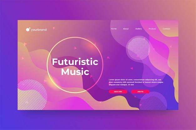 Diseño de sitio web abstracto futurista o plantilla de página de destino