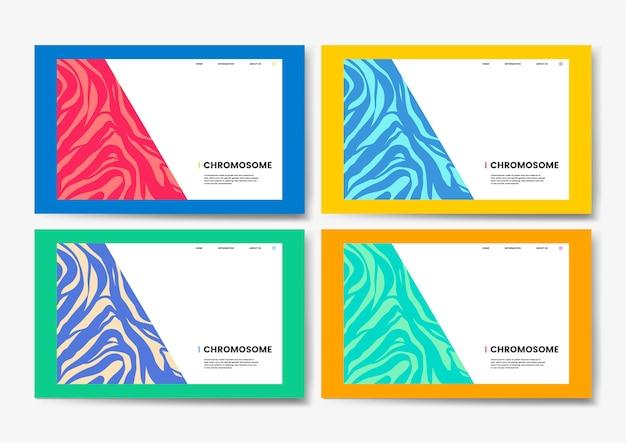 Diseño del sitio web de la ciencia educativa del cromosoma