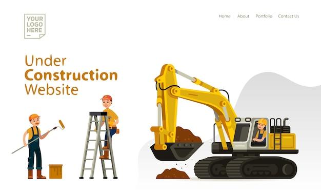Bajo el diseño del sitio web de plantilla constuctrion
