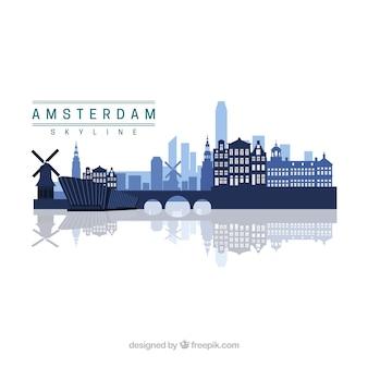 Diseño skyline de amsterdam