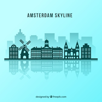 Diseño de skyline de amsterdam