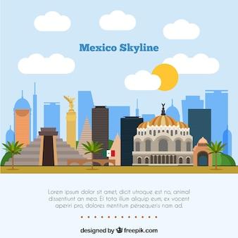 Diseño de la skyline de mexico