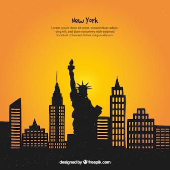 Diseño de skyline de nueva york