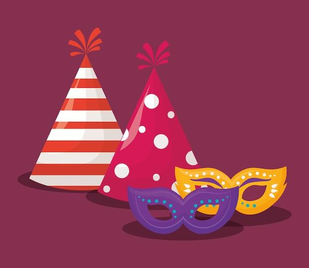 Diseño de sombreros de fiesta