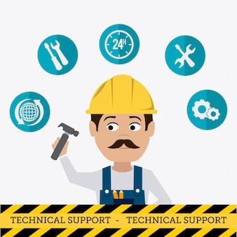 Diseño de soporte técnico.