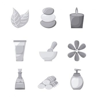 Diseño de spa sobre fondo blanco ilustración vectorial