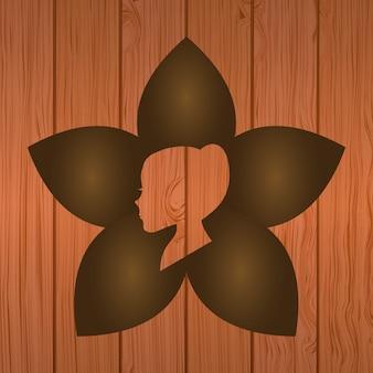 Diseño de spa sobre fondo de madera ilustración vectorial