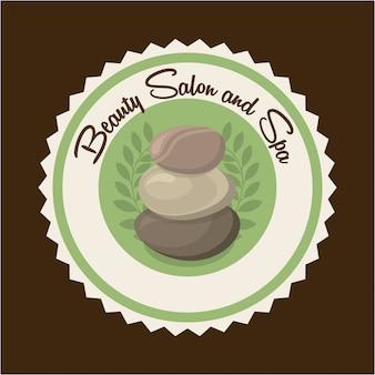 Diseño de spa sobre fondo marrón ilustración vectorial