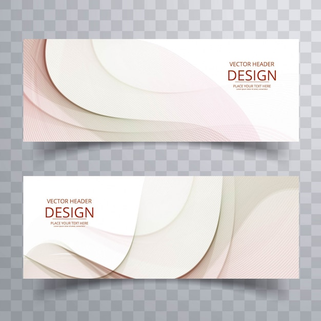 Diseño suave de banners ondulados