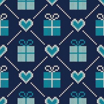 Diseño de suéter de vacaciones de invierno. patrón de punto sin costuras