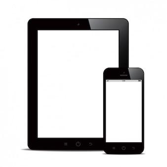 Diseño de tableta y teléfono móvil