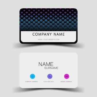 Diseño de tarjeta azul degradado.
