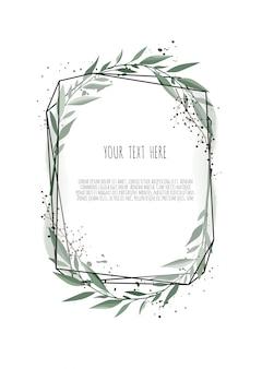 Diseño de tarjeta botánica floral vector