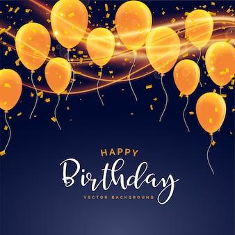 Diseño de tarjeta de celebración de feliz cumpleaños