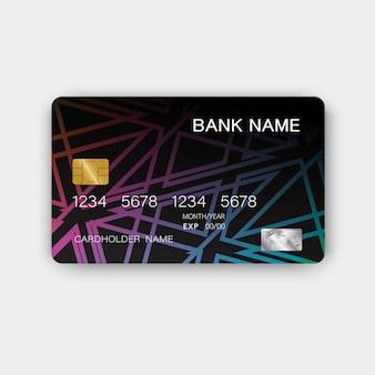 Diseño de tarjeta de crédito.