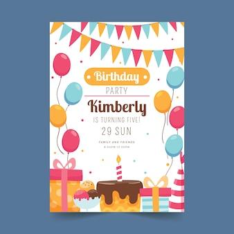 Diseño de tarjeta de cumpleaños para niños