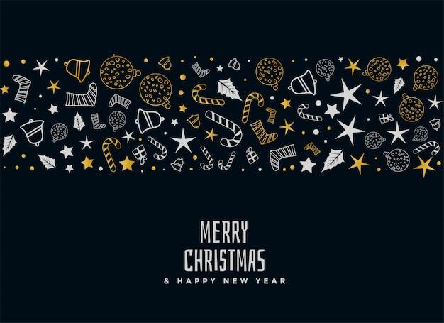 Diseño de tarjeta decorativa de feliz navidad