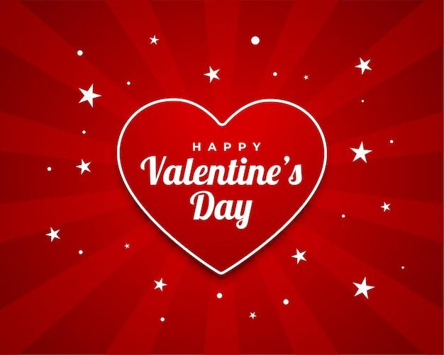 Diseño de tarjeta de deseos de saludo de feliz día de san valentín