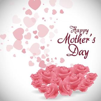 Diseño de tarjeta del día de la madre.