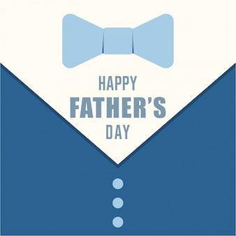 Diseño de tarjeta del día del padre con traje